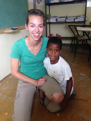 Erin with her sponsored child
