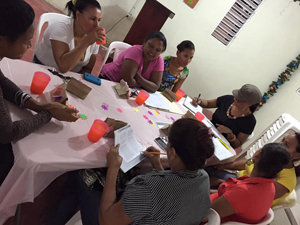 The women of San Pablo at one of their weekly meetings