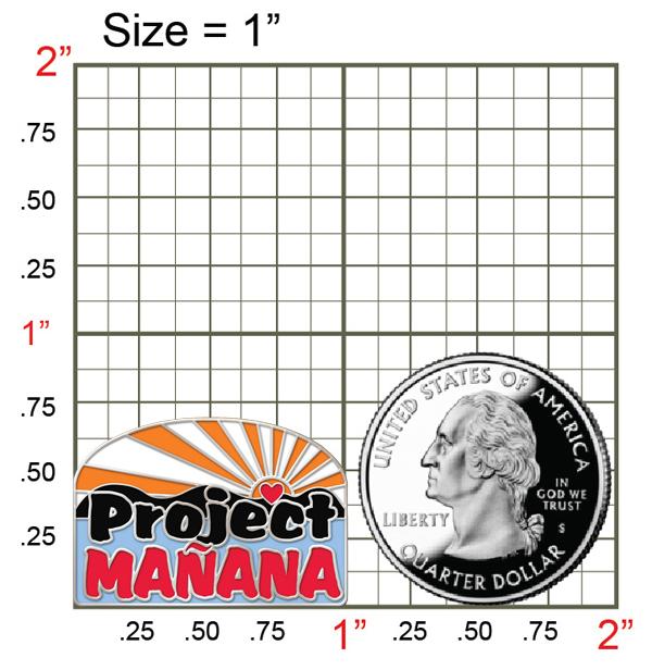 Project Mañana Lapel Pin - Color   Project Mañana International